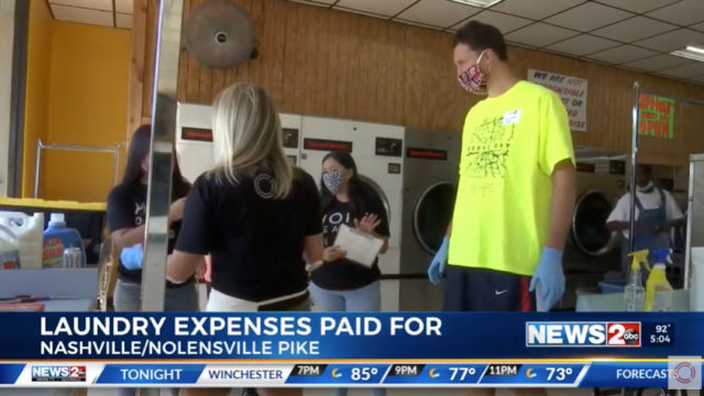 WKRN News 2 Nashville – COVID-19 Laundry Project Story