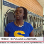 Photos from the Laundry Project's COVID-19 outreach at Big Wash West Tampa